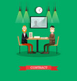 business contract in flat vector image