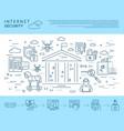 Digital blue internet security vector image