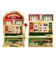 gambling slot machine composition vector image