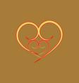 heart around heart t shirt vector image