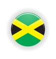 Jamaica icon circle vector image