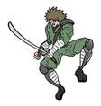 ninja sword vector image
