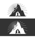 Miner against Mountains Design Element vector image