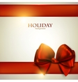 Christmas Bow Card Template vector image vector image