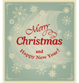 banner merry christmas vector image