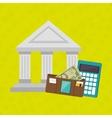 bank wallet calculator money vector image