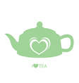 Teapot with heart vector image