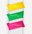 free origami banners vector image vector image