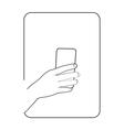 border smartphone in hand 2 vector image