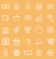 Money line icons on brown background vector image