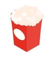 Popcorn isometric 3d icon vector image