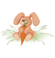Rabbit with carrot vector image