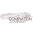 domination word cloud concept vector image