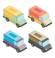 food van flat isometric vector image