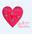 heart and butterflies vector image