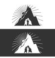 Miner against Mountains Design Element vector image
