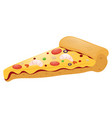 slice of pizza with meat toppings vector image