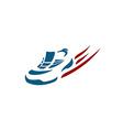 Sneaker logo vector image