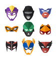 superheroes masks vector image