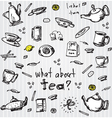 Tea set elements vector image