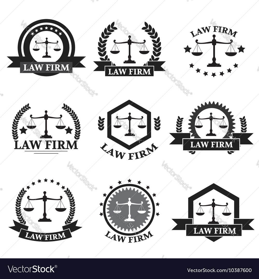 Law firm logo set vector