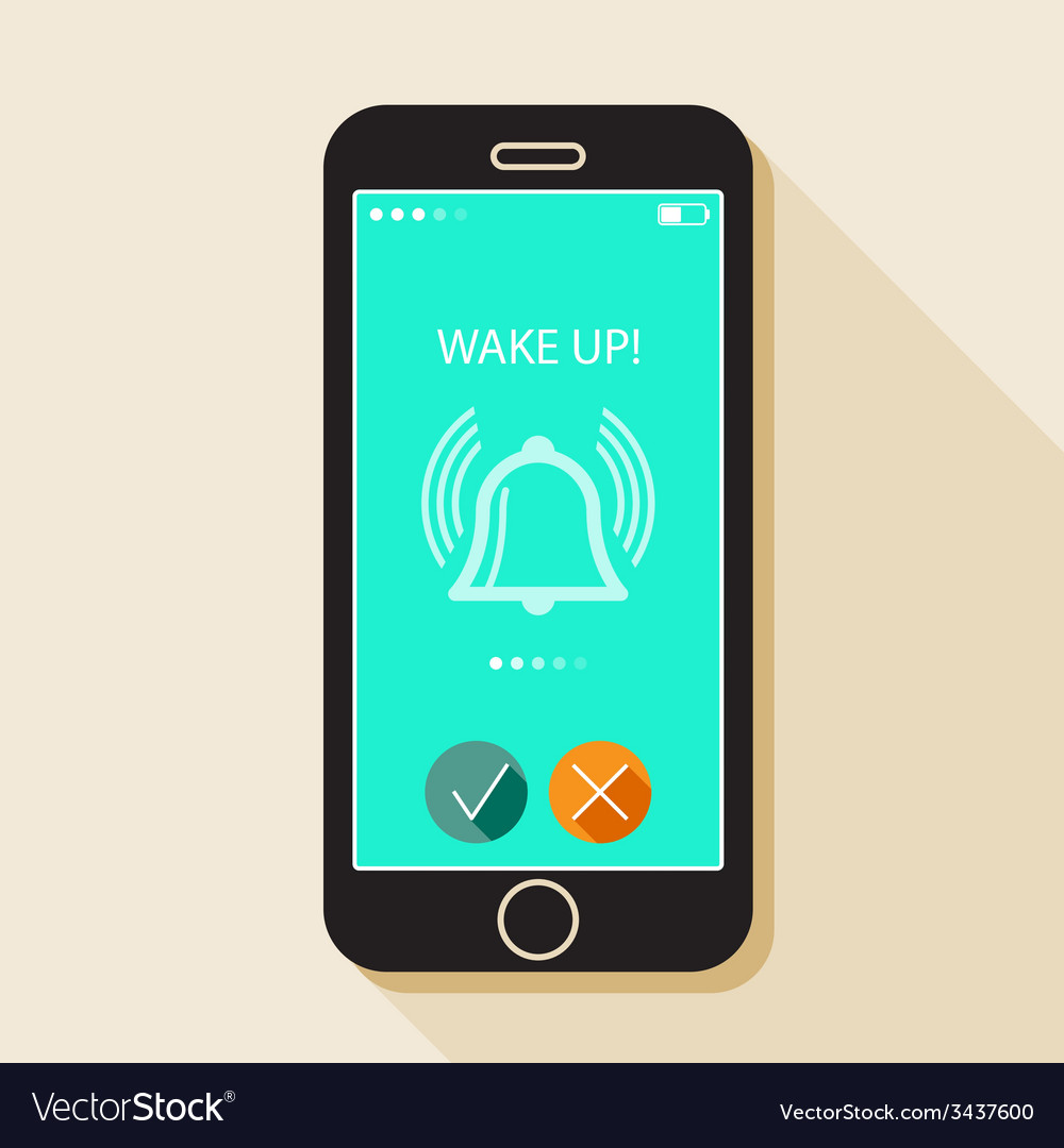With a mobile phone gadget in flat style with a vector