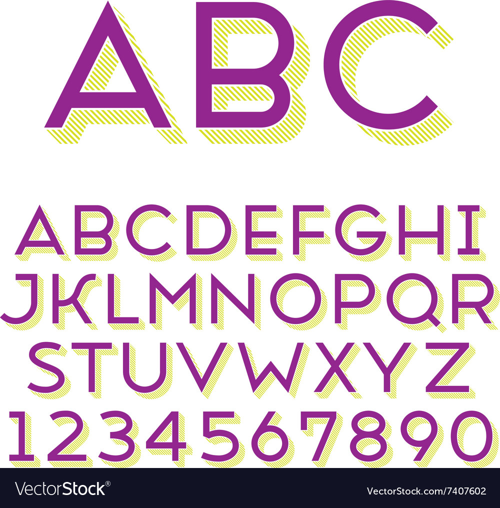 Font grotesque 3d line normal vector
