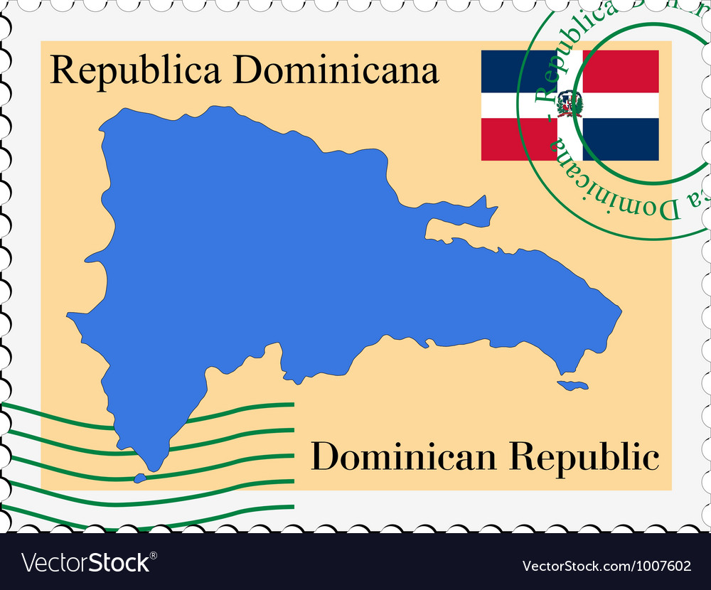 Mail tofrom dominican republic vector