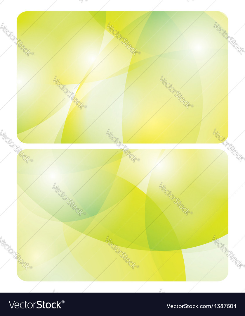Abstract yellow and green backgrounds  cards vector
