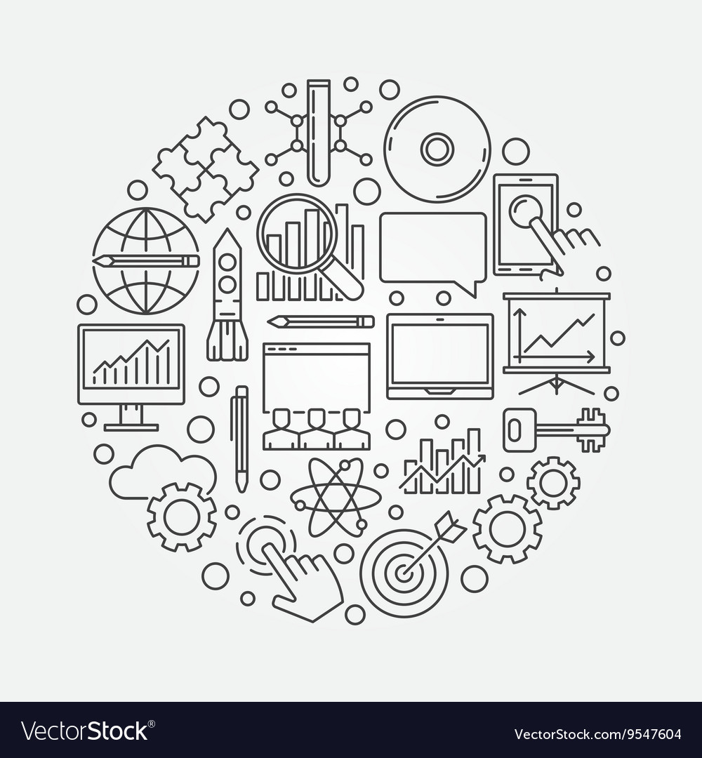 Innovation round symbol vector