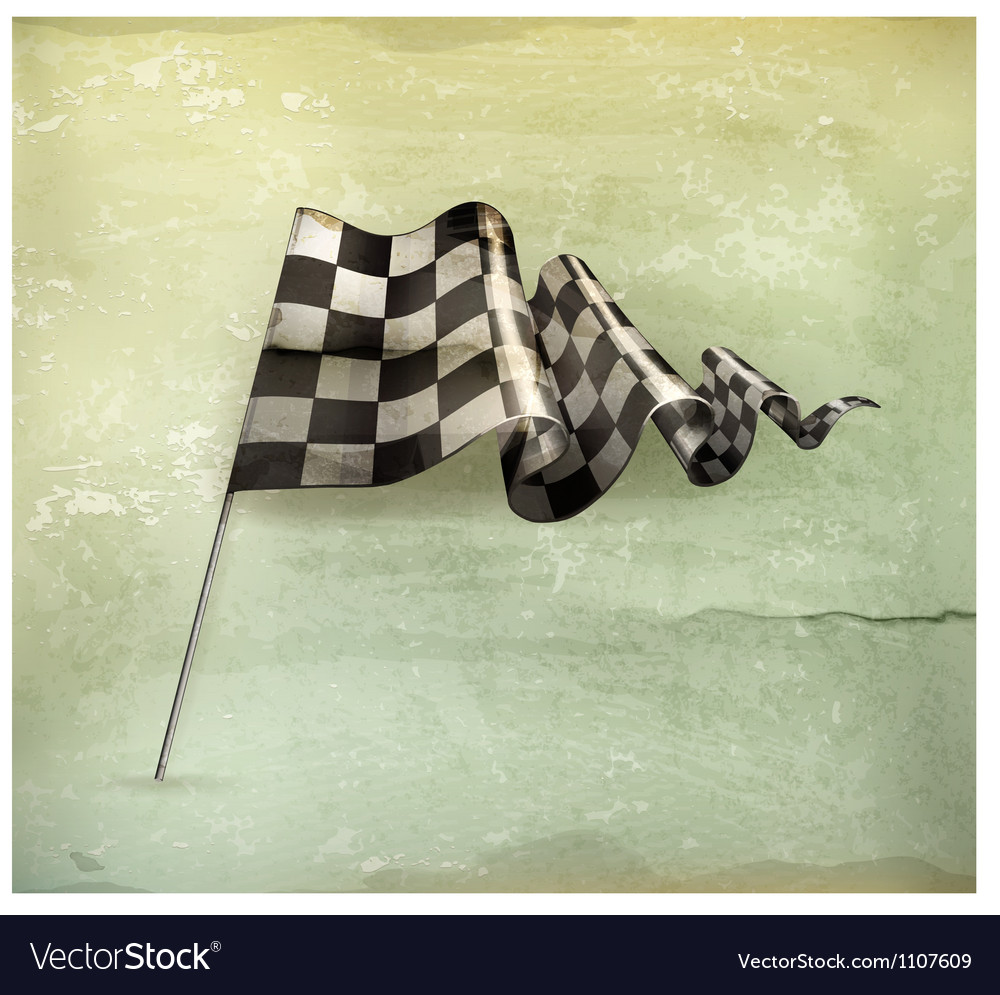 Checkered flag oldstyle vector