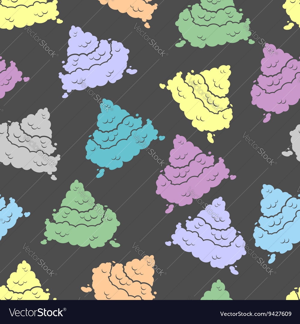 Colorful seamless pattern shit piece of poop vector