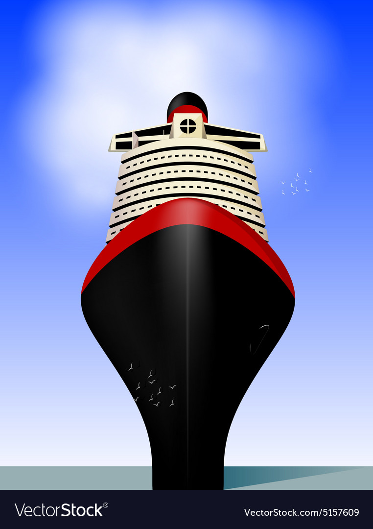 Cruise liner vector