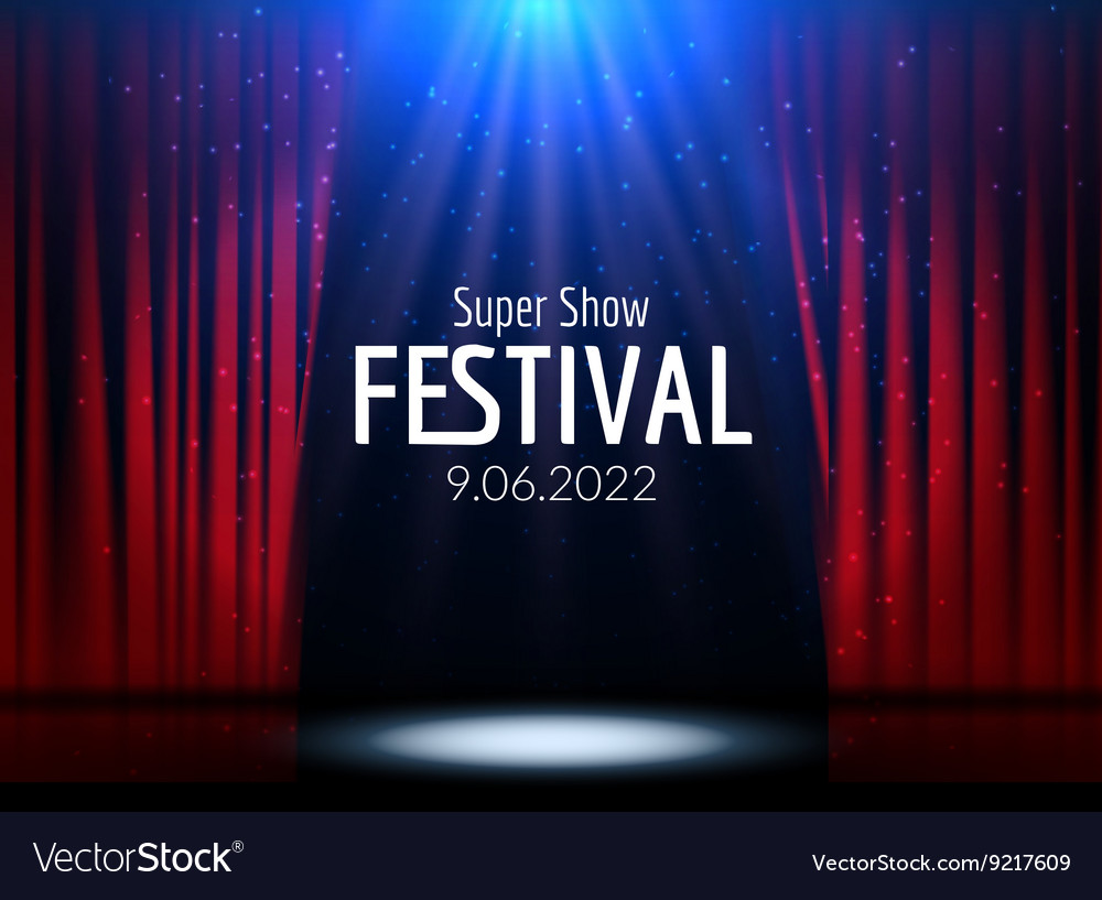 Festive design with lights poster for vector