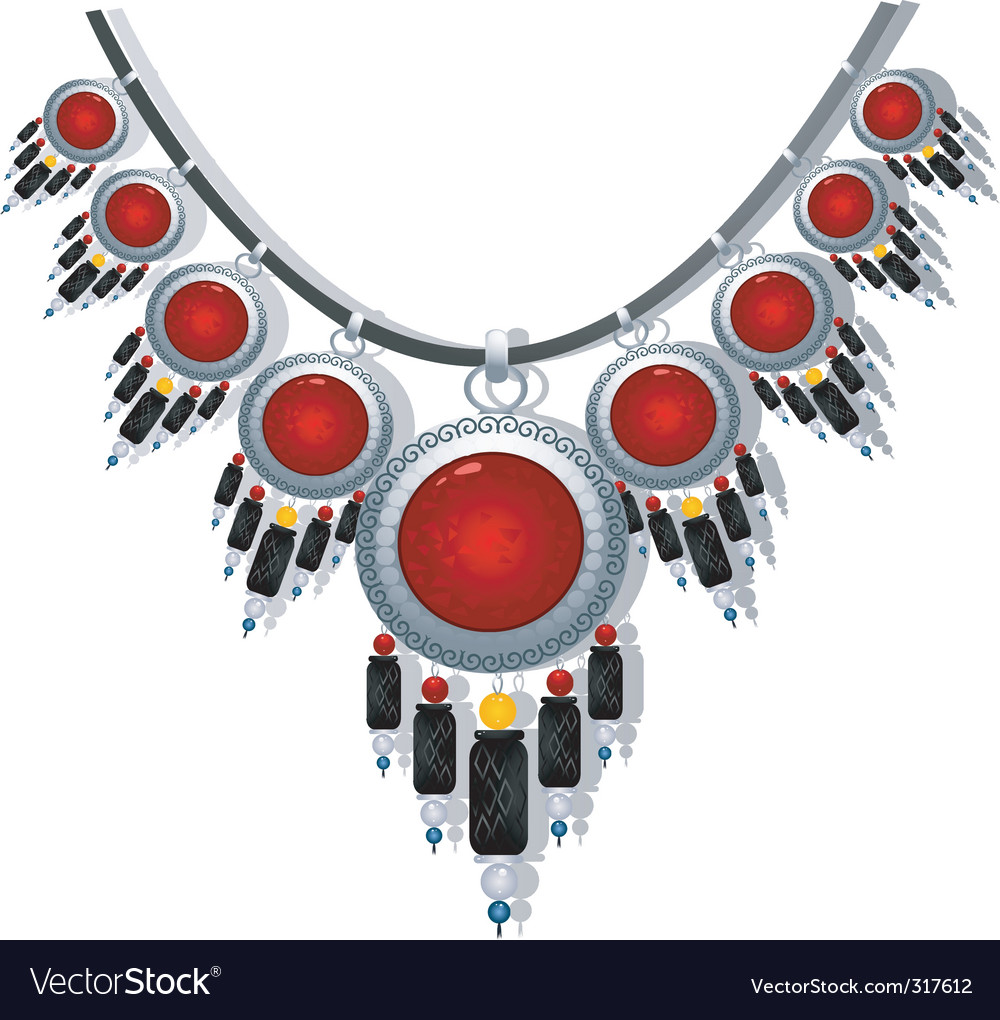 Tribal necklace vector