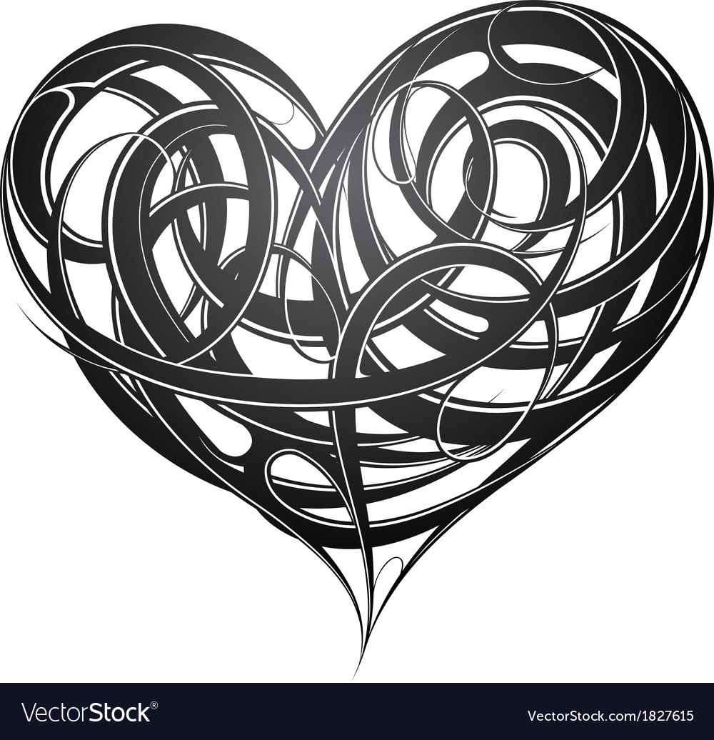 Heart shape original decoration vector