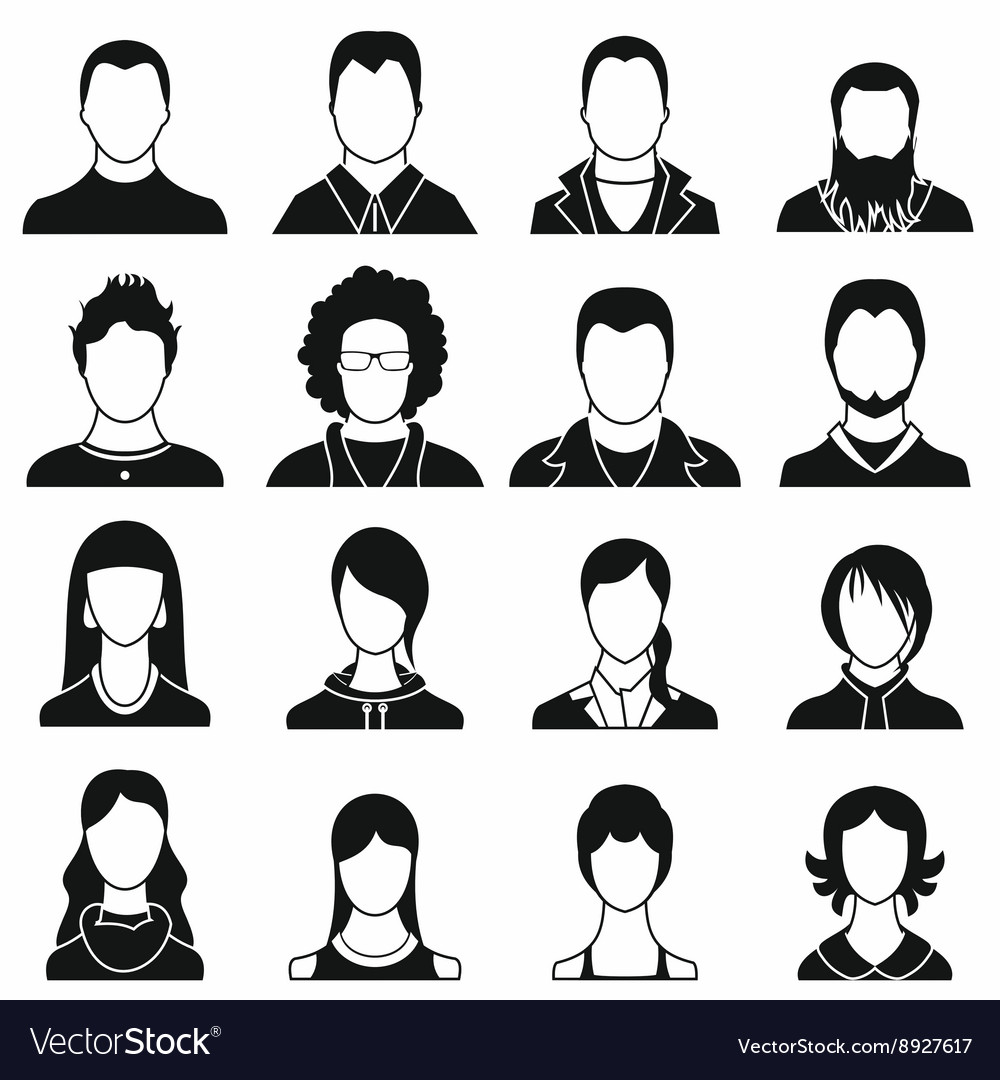 Avatars set icons vector