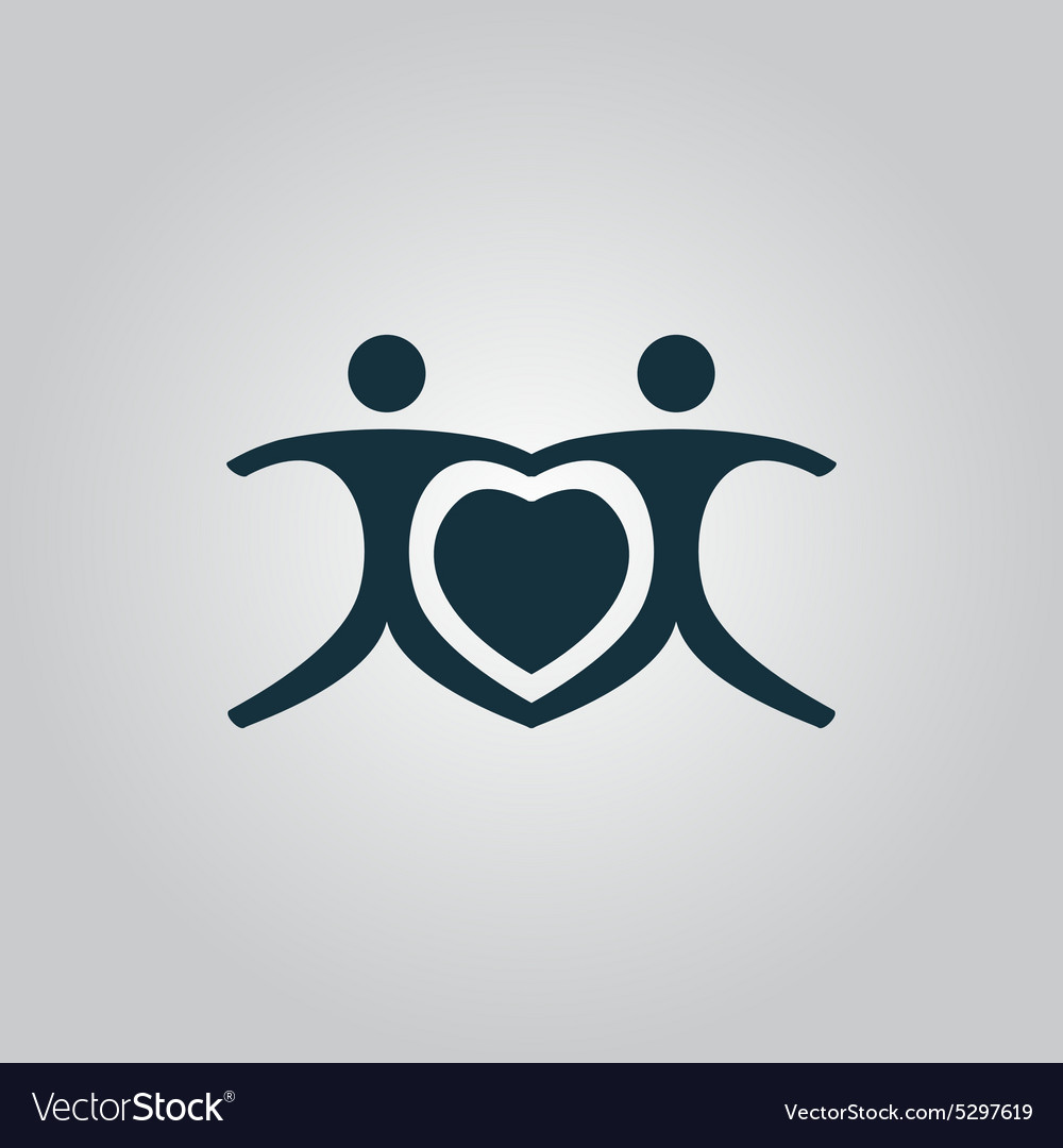 Love people  heart vector
