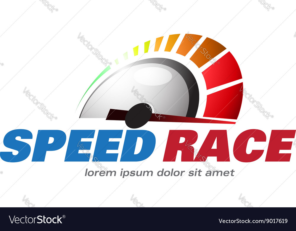 Speed race for logo racing event vector
