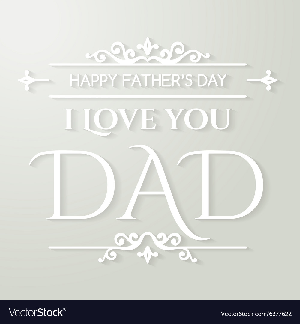 Happy fathers day poster thank you dad vector