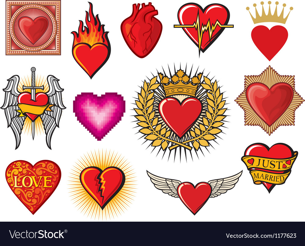 Heart collection vector
