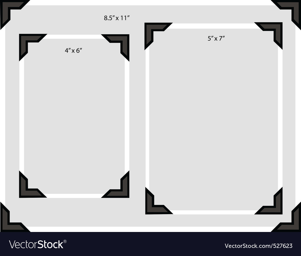Photo frame corners vector