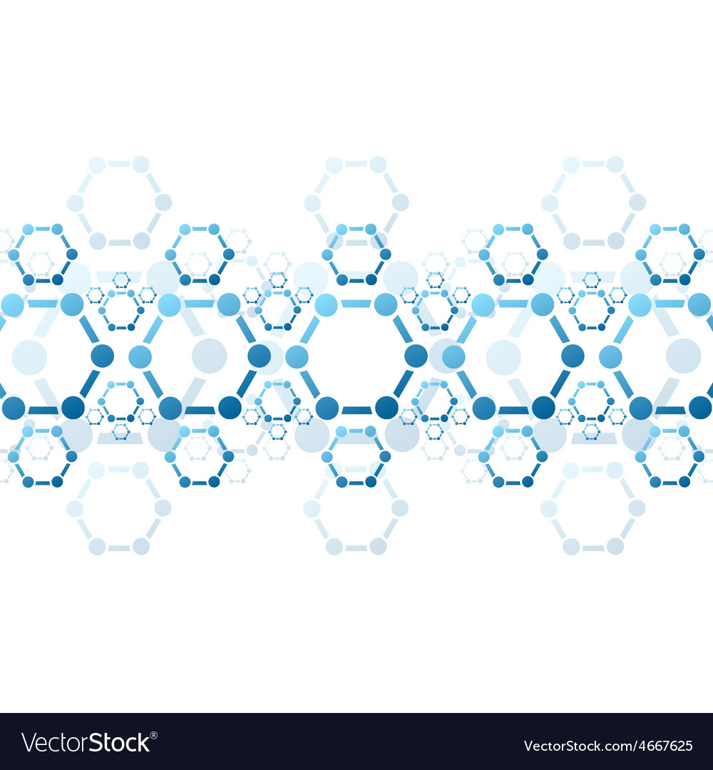 Background of blue molecule structure vector