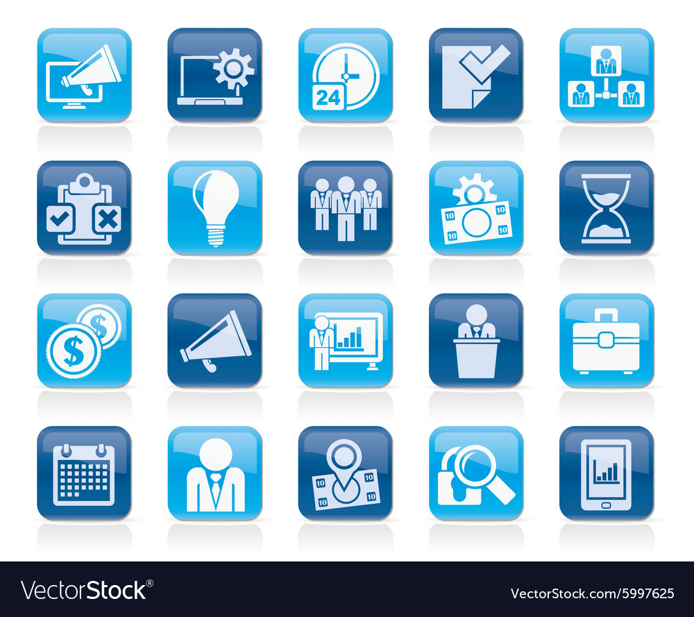 Business management concept icons vector