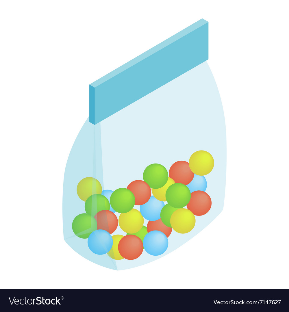 Package candy isometric 3d icon vector