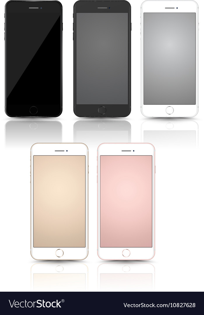 New smartphone collection mockups vector