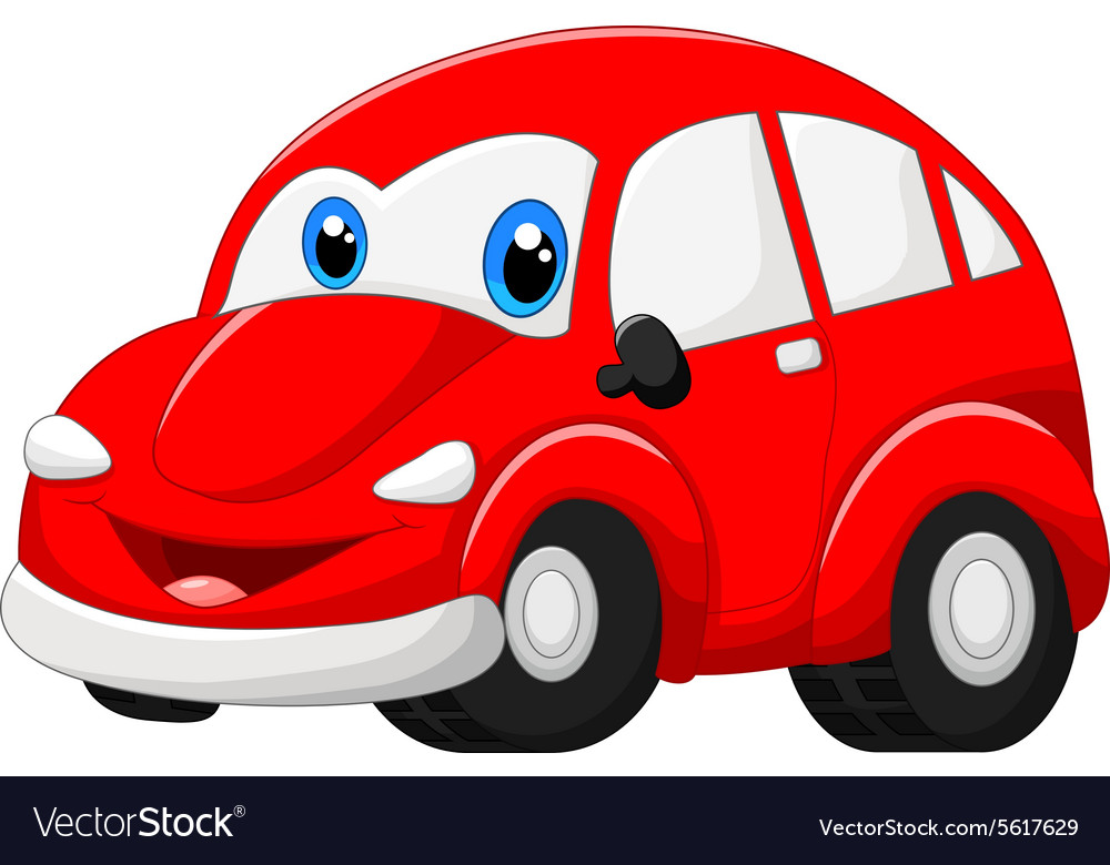 Cartoon red car vector