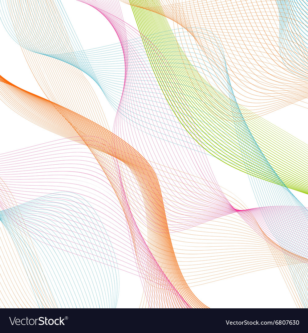 Abstract waves pattern on white background vector