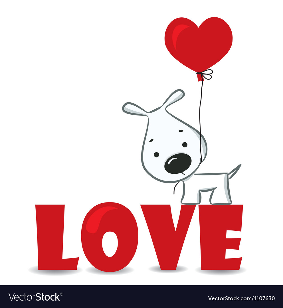 Loving dog vector