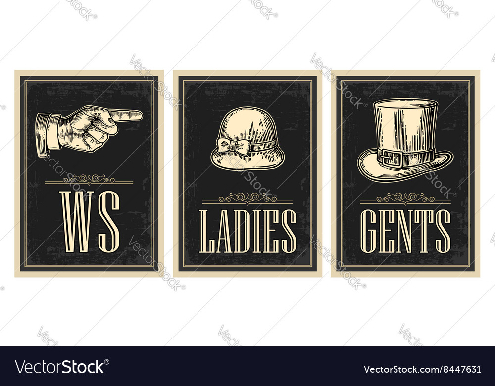 Toilet retro vintage grunge poster ladies cents vector